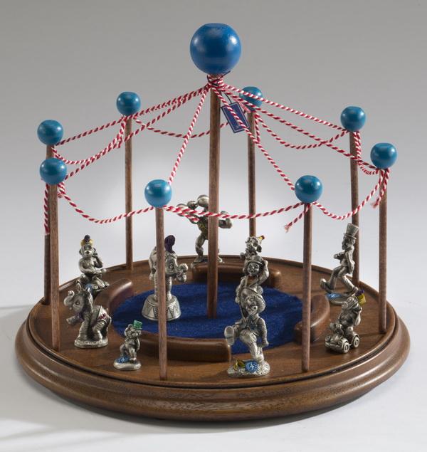 11pc 1982 Hudson pewter figurine circus set