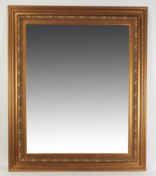 Monumental beveled mirror, 77