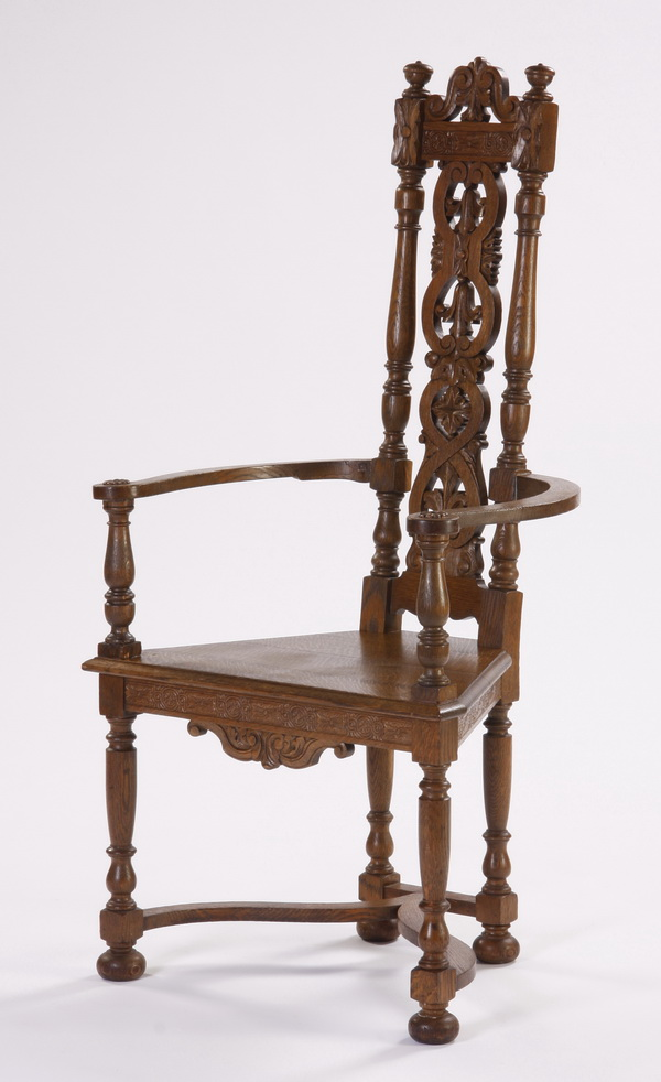 American carved oak armchair, early 20th c.