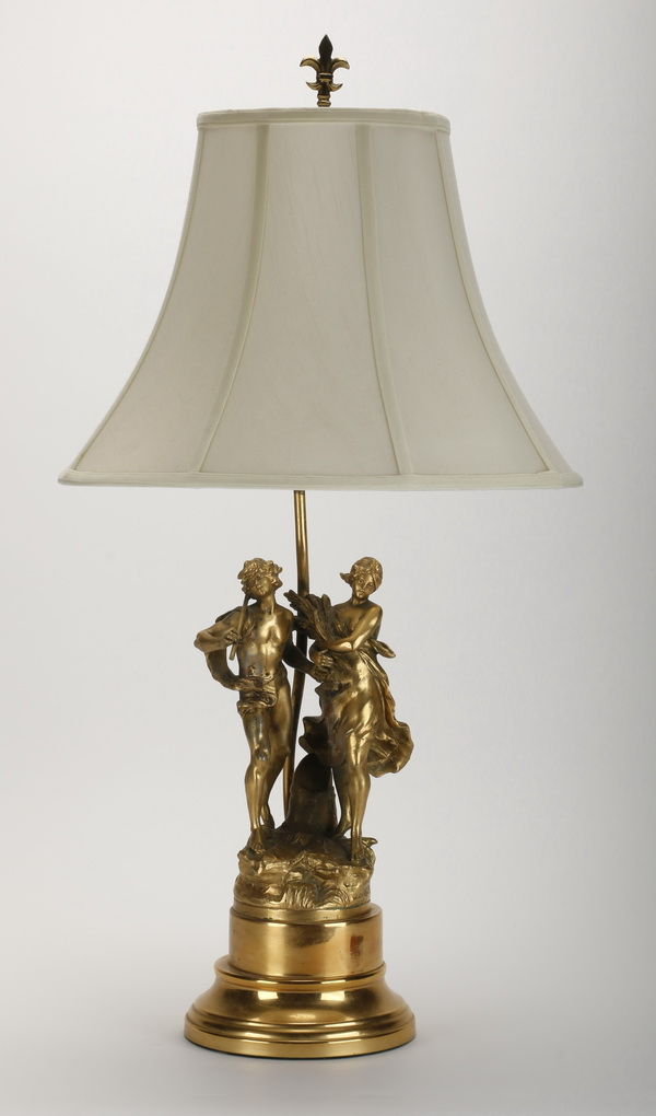 Spelter figural lamp, early 20th c.