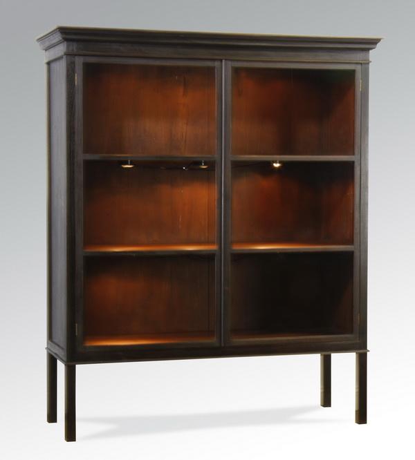 Pierce Martin ebonized bookcase, 60