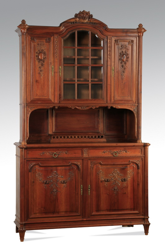 19th c. French carved walnut buffet, 99