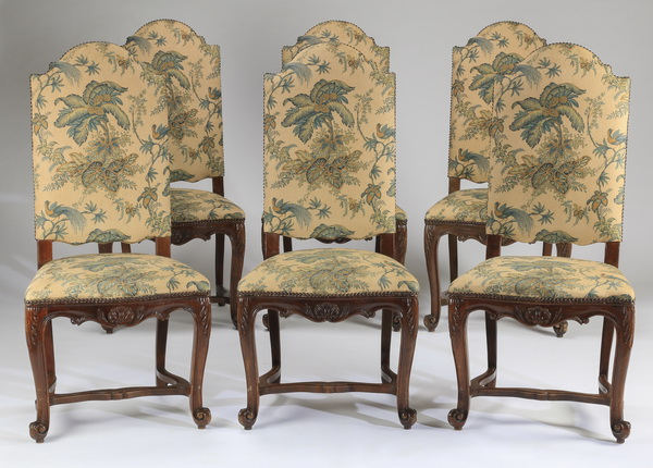 (6) French Provincial side chairs, 46
