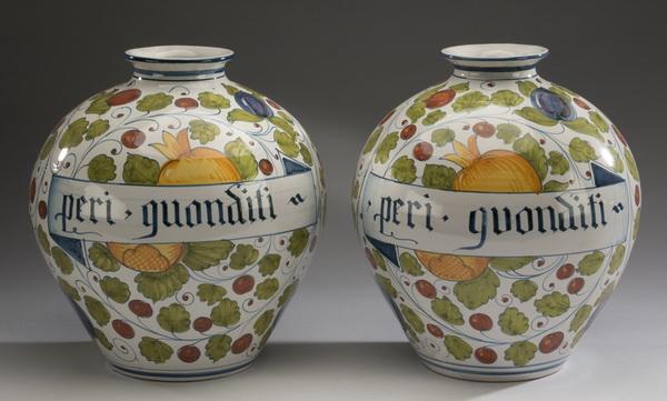 (2) Vincent Garnier, Paris hand decorated vases