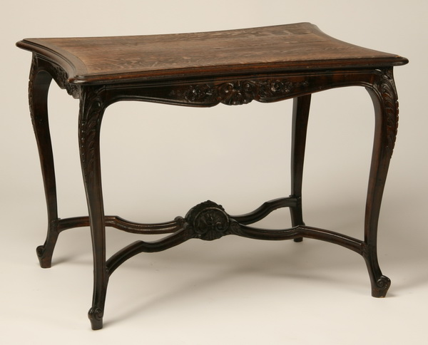 19th c. French Provincial carved oak side table