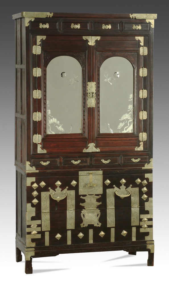 Asian cabinet with mirrored accents, 76