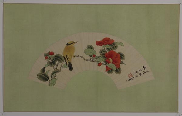 Chinese watercolor fan painting 'huaniao hua' 32