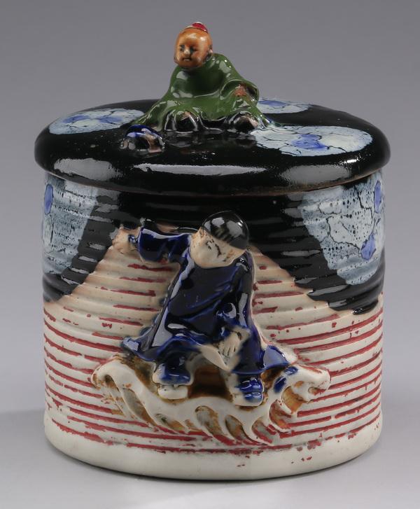 Japanese Sumida Gowa humidor, 5.25
