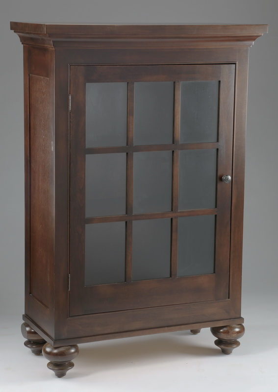 Arts & Crafts style single door cabinet, 59