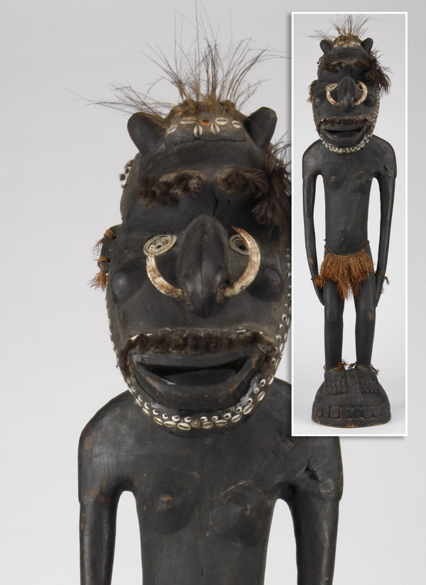 Carved ancestral figure, Papua New Guinea, 54