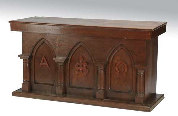 Gothic Revival style carved console, 60