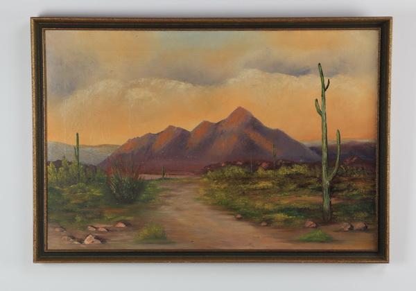 H.L. Emrich signed desert scene, 38
