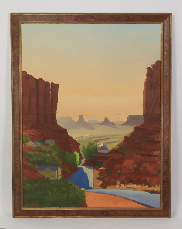 Max W. Mason, O/c Monument Valley, 64
