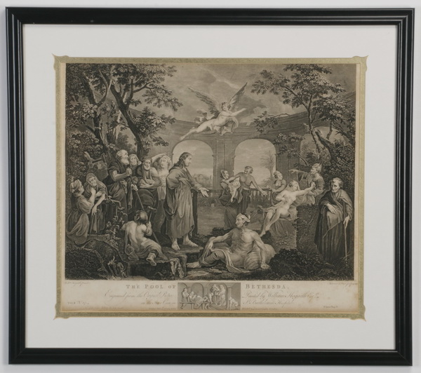 (2) William Hogarth framed engravings, 18th c