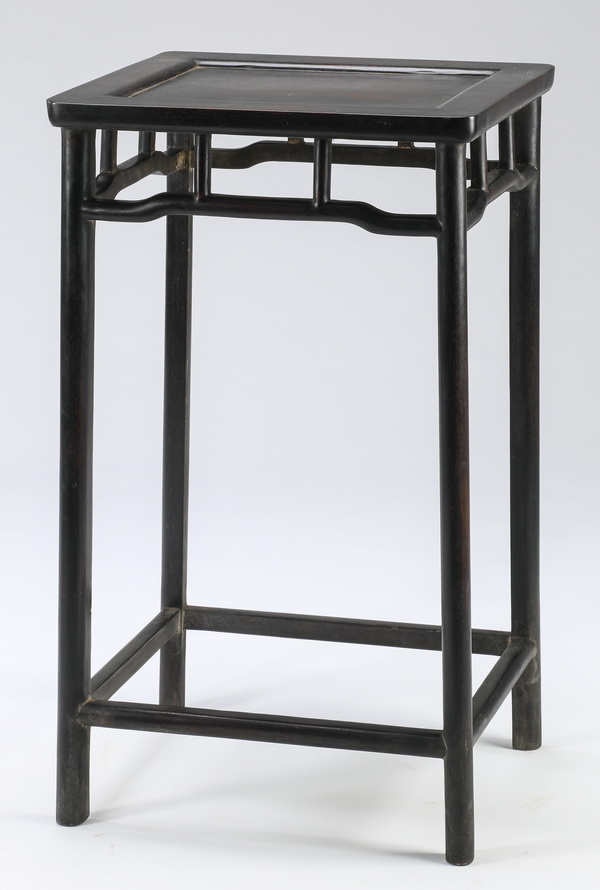 Chinese carved wood stand, 28.5