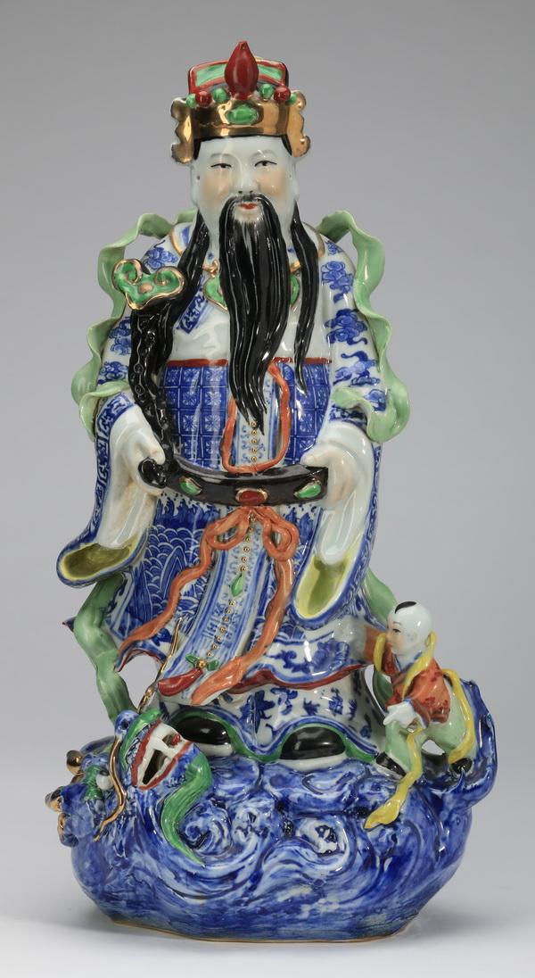 Chinese porcelain Lu, the god of prosperity, 17