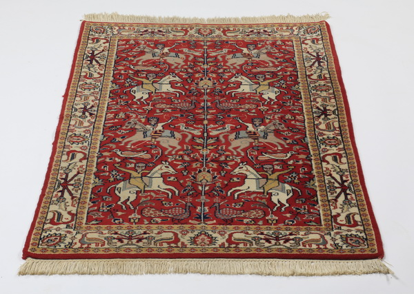 Hand knotted Sino-Tabriz hunt carpet, 5 x 3