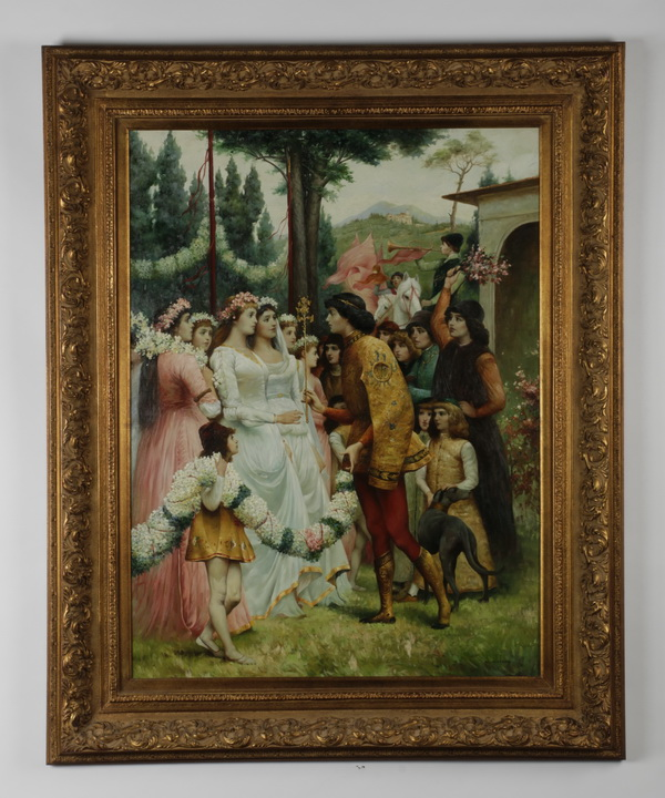 20th c. framed giclee' wedding scene, 63