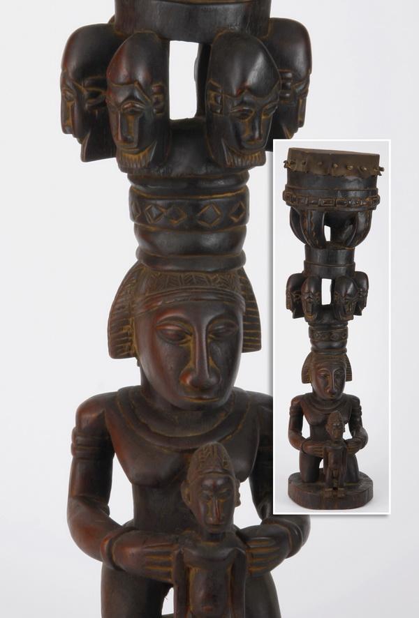 Black snake skin drum, Bozo tribe, Mali, 39