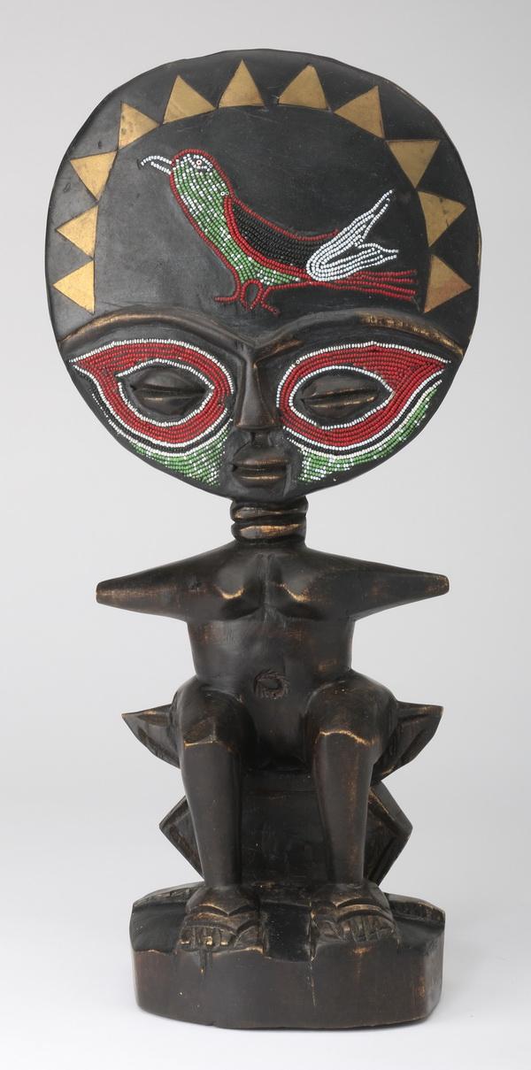 Ashanti fertility doll in carved ebony