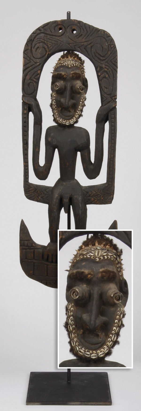 Figural basket hook, Papua New Guinea, 55