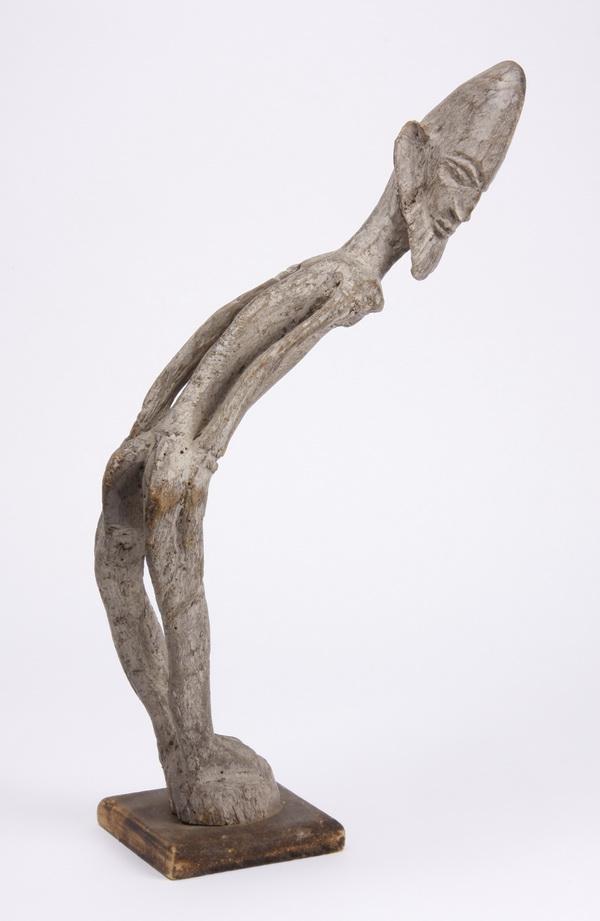 Hand carved figural sculpture, western Africa