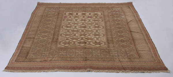 Hand knotted Turkish wool area rug 6 x 8
