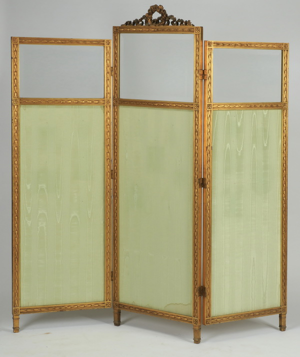 19th c. French three panel screen, 71