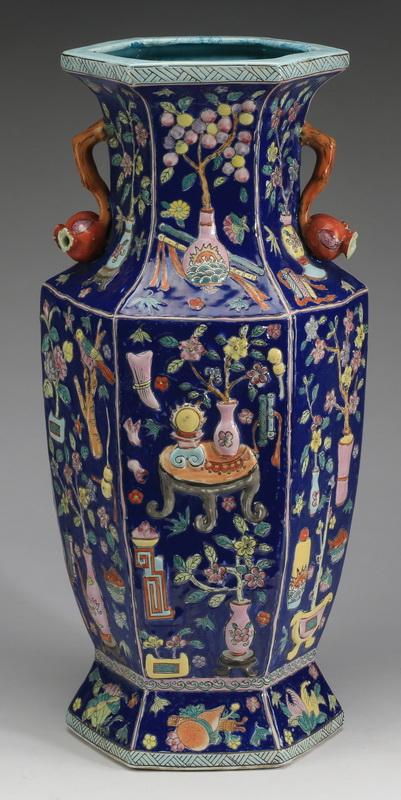 Chinese 'bogu motif' baluster form vase, 19
