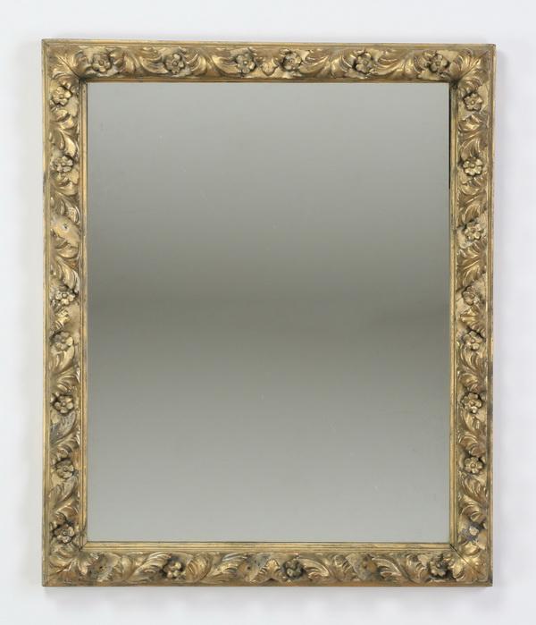 19th c. Rococo Revival giltwood mirror, 34
