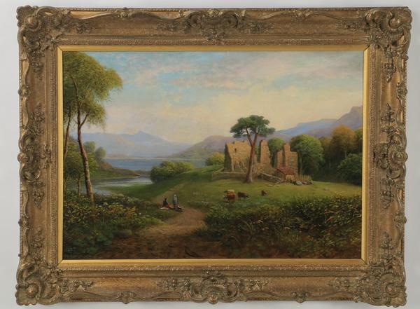 George Buchanan signed O/c pastoral scene