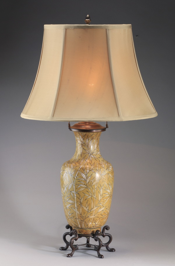 Chinese cloisonne table lamp, 28