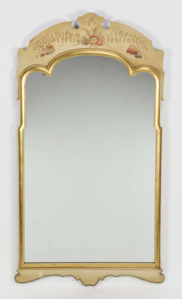 Venetian chinoiserie style paint decorated mirror 49