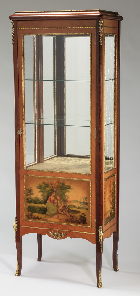 Early 20th c. Vernis Martin style vitrine, 64