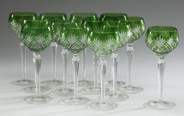 (13) Rexxford crystal water goblets, 8.25'''h