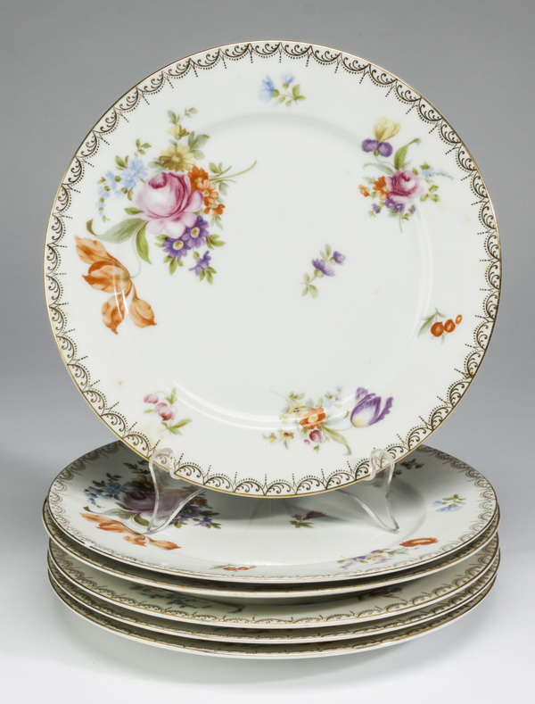 (6) Rosenthal plates in the Meissen pattern, 10