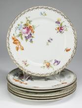 (6) Rosenthal plates in the Meissen pattern, 10