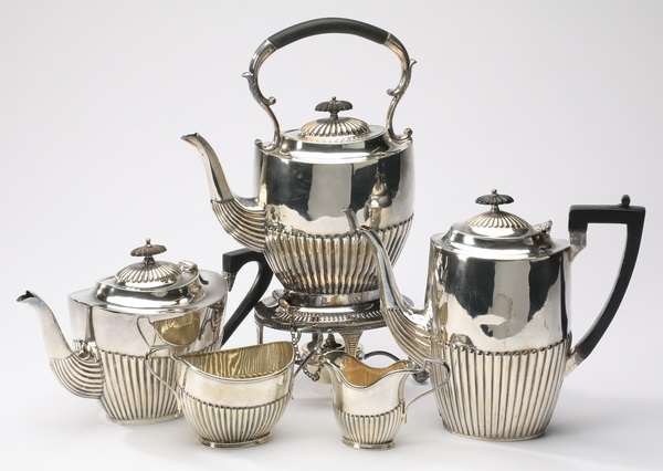 5-Piece Sheffield hot beverage service