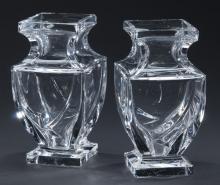 Pair of Italian crystal vases, 7