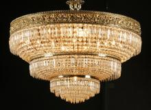 Italian cut crystal chandelier, 32