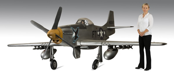 1/3 scale model of a WWII P-51D Mustang