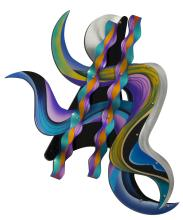 Shlomi Haziza acrylic lucite wall sculpture, 60