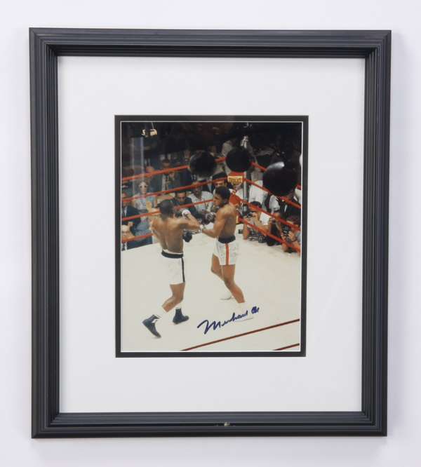 Muhammad Ali autographed boxing photo
