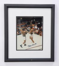 Muhammad Ali autographed boxing photo