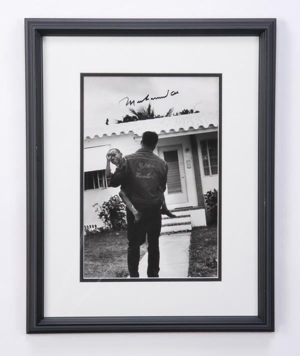 Muhammad Ali framed autographed photo
