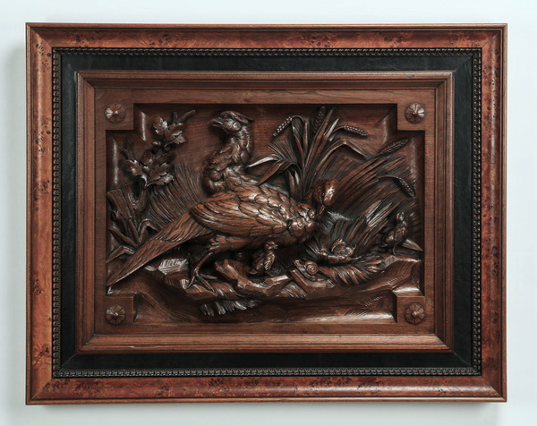 Carved panel, attr to Alexander Roux, 19th c.