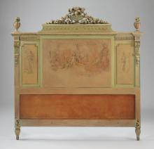 French paint decorated headboard, 57