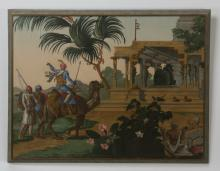 'Hindoustan' wallpaper fragment, Zuber et Cie, 1870