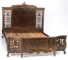 Carved Chinese Rococo inspired bed