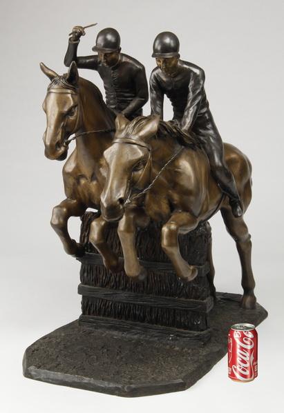 Oversized bronze figural sculpture, 36